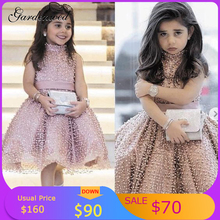 Prom-Dresses Baby-Girl Satin Tulle Gardenwed Bow Fashion A-Line Ruffles Vestidos Stars