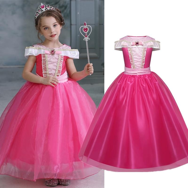 Girl Clothing Sleeping Cosplay Princess Carnival Halloween Costume Girl Party Dress Beauty Christmas 4 8 10 Years 1