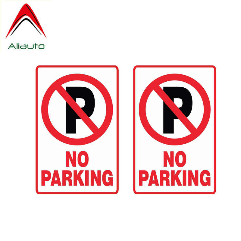 Aliauto אזהרת רכב מדבקת 2 X אין חניה מדבקות אביזרי PVC עבור פאסאט B6 לאדה סטה פורשה לנד רובר מושב ליאון, 11 סנטימטר * 7 סנטימטר