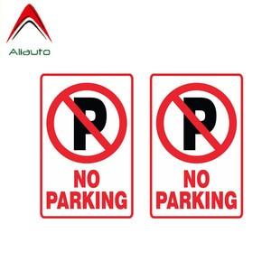 Aliauto Warning Car Sticker 2 X NO Parking Decal Accessories PVC for Passat B6 Lada Vesta Porsche Land Rover Seat Leon,11cm*7cm