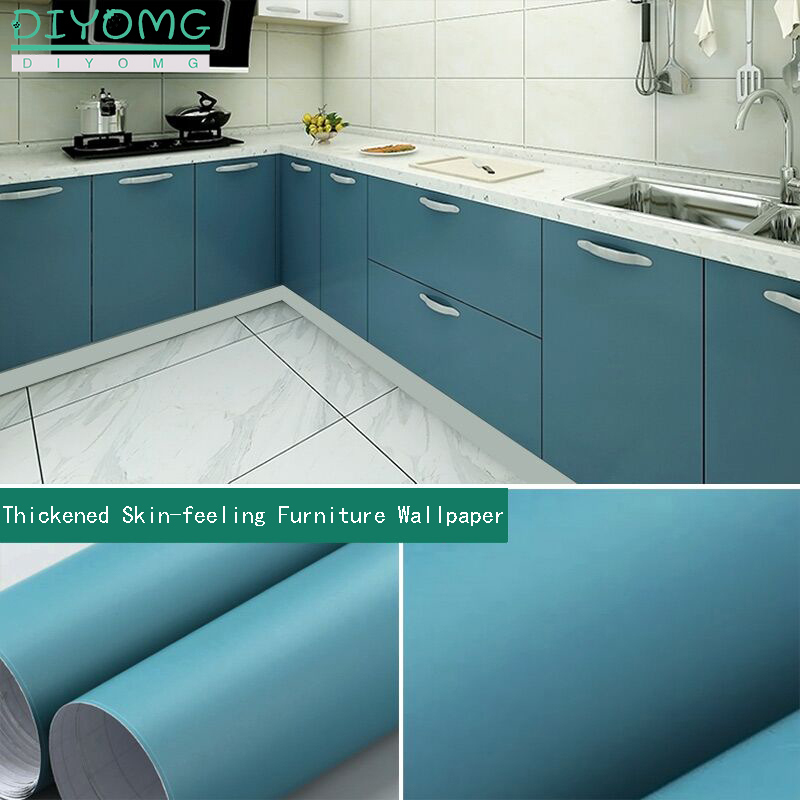 Furniture Cabinets Self Adhesive Film Wallpaper PVC Waterproof Wardrobe Desktop Kitchen Stickers Drawer Contact Paper Thickened