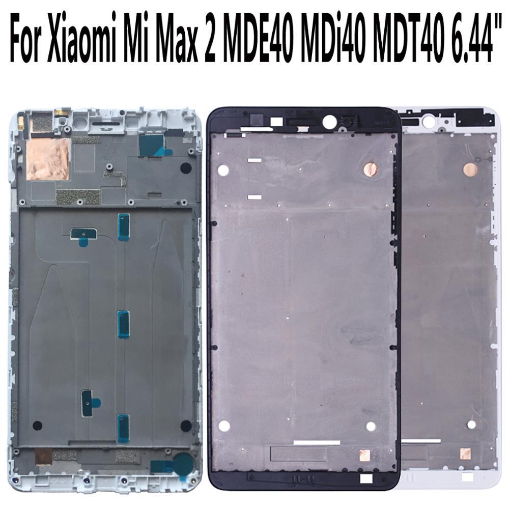 """מקרנים ופלאזמות Shyueda על המקורי בניו 6.44"""" במשך Xiaomi Mi מקס 2 MDE40 MDi40 MDT40 קדמי מסגרת התיכון מסך Bezel והשיכון (1)"""