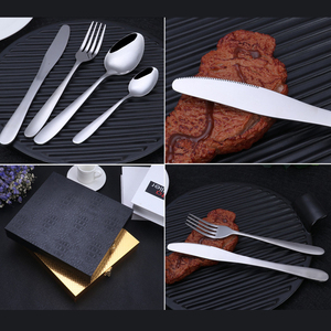 Image 2 - Stainless Steel 24pcs Tableware Western Cutlery Set knife spoon fork Dinner Set for 6 Person Family Supplies with Wood Gift Box