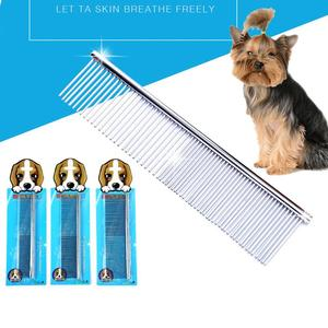 Stainless Steel Pet Comb For Dogs Cats Hair Remover Trimmer Grooming Comb Removes Tangles Loose Hair Dirt Comb Pets Supplies