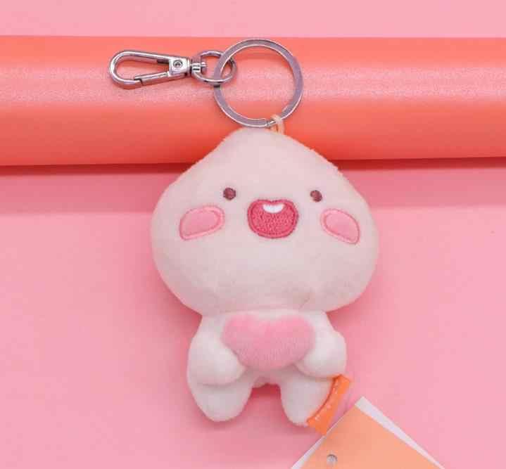 1 Pc high quality lovely Fart Peach Pendant Korea Cartoon cute Stuffed Plush Toys Fart peach plush keychain Kids Gift