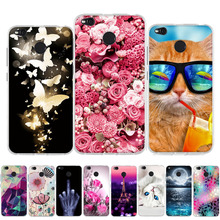 Fashion For Xiaomi Redmi 4X 4 X Case Soft TPU Silicone Fundas Pro Cover 3D Relief Hongmi Flower Phone Cases
