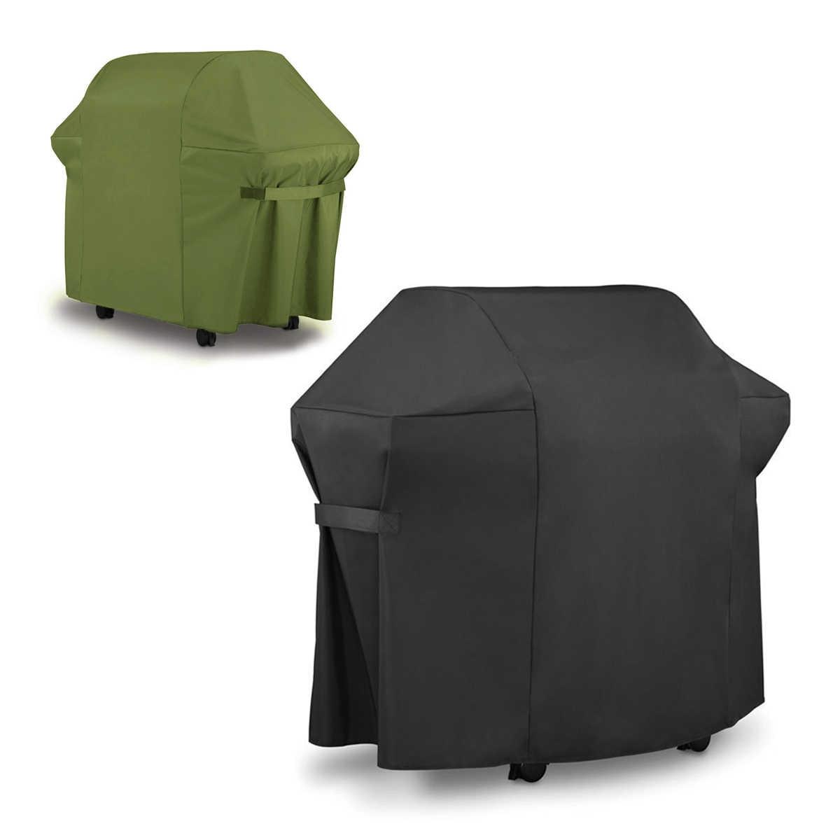 防水バーベキューグリルカバーバーベキューストーブ保護カバー防水収納袋アウトドアキャンプバーベキューアクセサリー黒緑