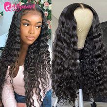 Perruque Lace Closure Wig Remy brésilienne – AliPearl, cheveux naturels, Loose Deep Wave, 4x4, pre-plucked, densité 180%