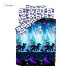Bettwäsche Sets Delicatex 16136-1 + 16126-1 Tainstvennyiy mir Neon Hause Textil bettlaken leinen Kissen Abdeckung bettbezug baby Baumwolle