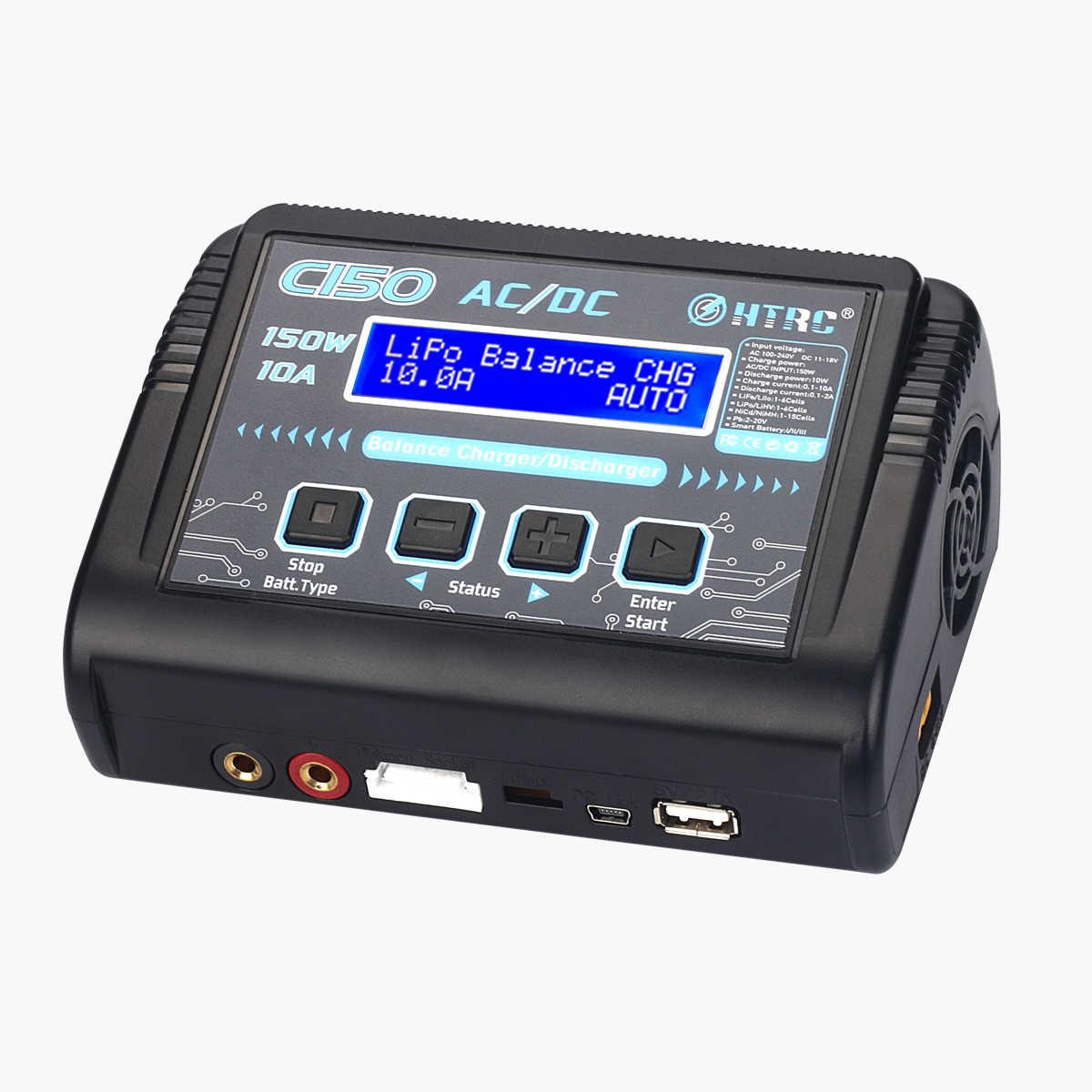 Hot Sale HTRC C150 Lipo Charger Baterai Rc AC/DC 150W 10A RC Keseimbangan Discharger untuk LiPo LiHV liFe Lilon NiCd NiMh Pb Baterai