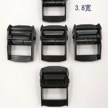 Black zinc alloy pressure buckle tensioner binding device tightening