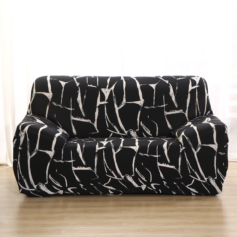 Wrinkle Free Couch Cover with Elastic and Straps for Sofa in Living Room Made of High Quality Spandex Material 21