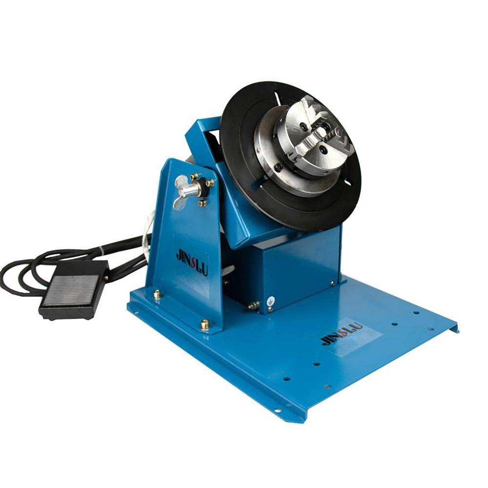 220V BY-10 10KG welding turntable rotator for pipe or circle workpiece welding positioner with K01-65 mini chuck cartridge M14