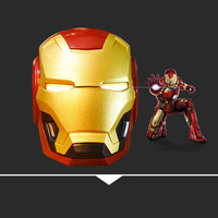 Iron Man Bluetooth Speaker Portable Bass Phone Audio Subwoofer Wireless Bluetooth 4.2 with SD FM Outdoor Column Loudspeaker