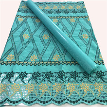 100% Cotton Swiss Cotton Voile Lace Match African Bazin Riche Brode Fabric 2020 Damask Shadda Guinea Brocade Lace Fabric-ABS30
