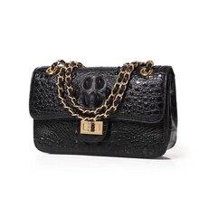 Crossbody-Bags Crocodile Leather Luxury Brand Handbags-Chain Messenger-Bag Shoulder Female