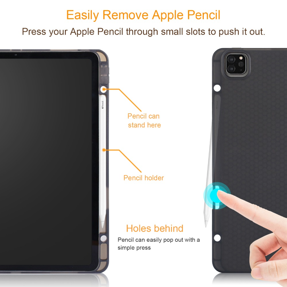 for Pro Pro Cover for Tablet Solid Inch iPad 2020 Case 12.9 12.9 Smart Funda Case iPad