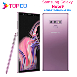 Разблокированный Samsung Galaxy Note9 Note 9 N960FD, LTE мобильный телефон Exynos 9810 восемь ядер, две SIM-карты, 6,4 дюйма, двойная 12 МП ОЗУ 6 Гб ПЗУ 128 ГБ NFC