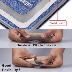 Image 5 - Flip מקרה עבור Huawei כבוד 9 מקרה stand כבוד 9 כיסוי עור חזרה הסיליקון ספר Mofi נצנצים יוקרה huawei honor 9 מקרה עסקים