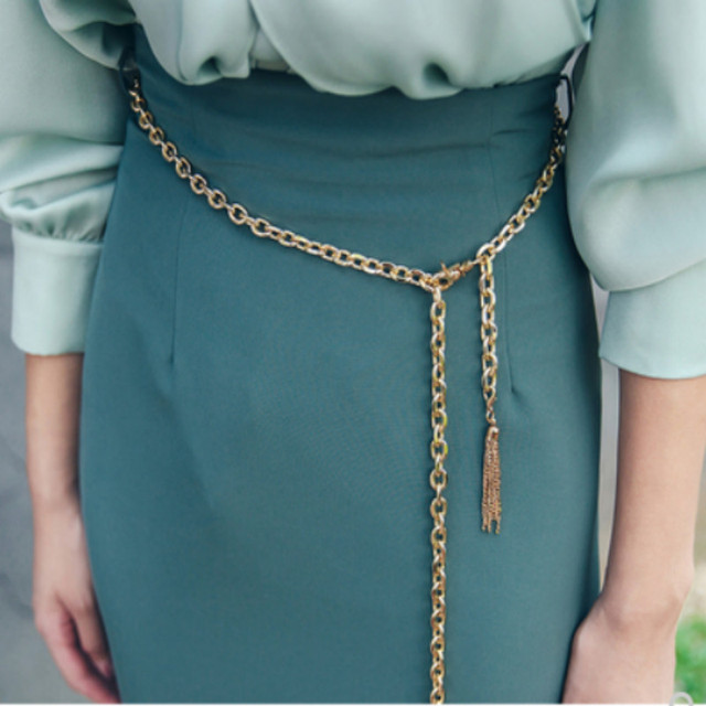 The 2020 autumn new women's Korean fashion show thin high waist skirt women's skirts pure color 2
