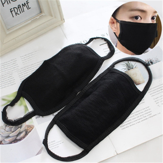 Hot Black Windproof Face Masks Anti-Dust Cycling Respirator Cotton mouth Face Mask Proof Flu Face Masks solid Mouth Mask Muffle 4
