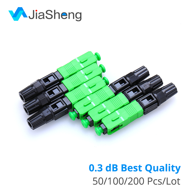 0.3dB FTTH Fiber Optic Quick Connector FTTH SC/APC SM Fast Connector For CATV