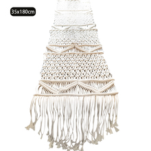 Ornaments Wedding Party Farmhouse Kitchen Holiday Woven Nordic Christmas Banquet Home Decor Table Runner Macrame Tassel Dining