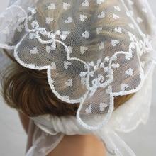 Белый церковный головной убор, католическая Часовня платок-накидка, Кружевная повязка на голову, свадебная вуаль