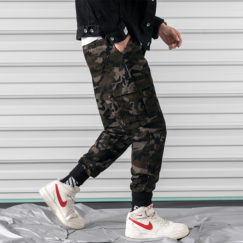 2019 Autumn Large Size Japanese-style Rolling Door Labeling Harem Casual Pants 37 5