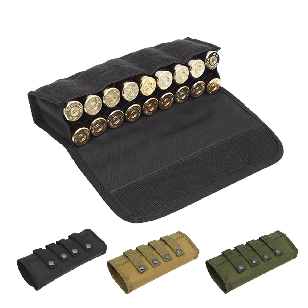 18 Round 12/20 Gauge Shotgun Cartridges Bullet Pouch Hunting Shooting Military Molle Waist Bag Tactical Shell Holder Ammo Bag