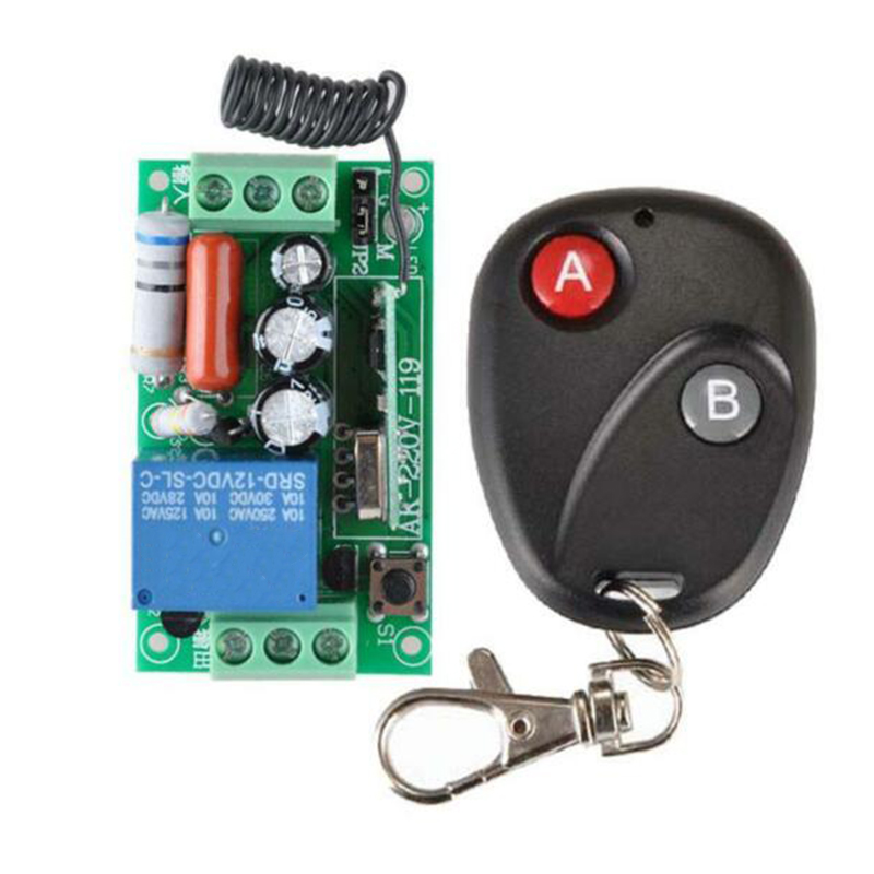 Wireless Remote Controller AC 220V 1CH RF 433MHz Home Module Learning Code Relay Remote Control Remote Control Switch