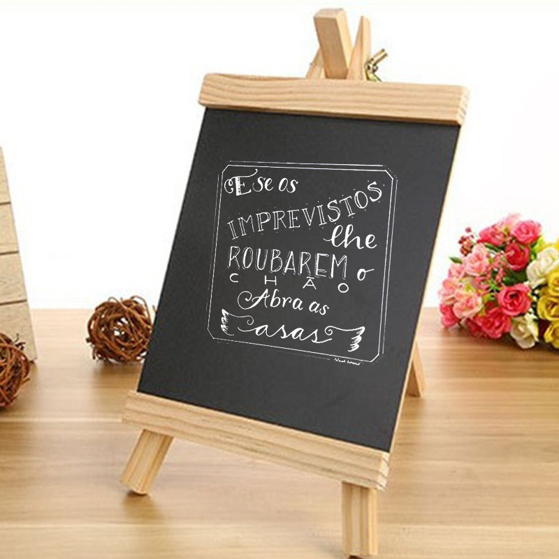Wood Blackboard Small Blackboard Magnetic Bar Table 24*13cm Child Desktop Teaching Sketchpad Portable Restaurant