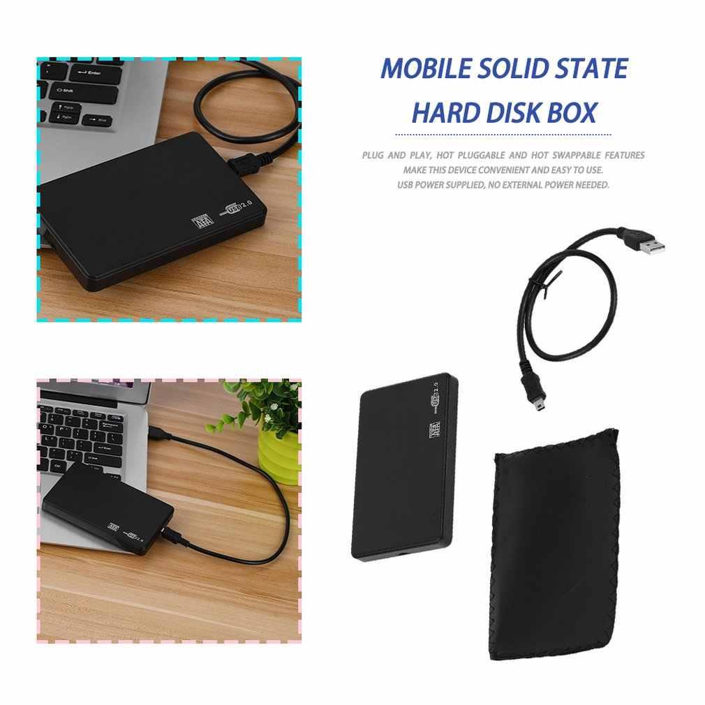2.5 بوصة USB HDD علبة Sata إلى USB 2.0 قرص صلب SATA الخارجية الضميمة HDD صندوق القرص الصلب مع كابل يو اس بي