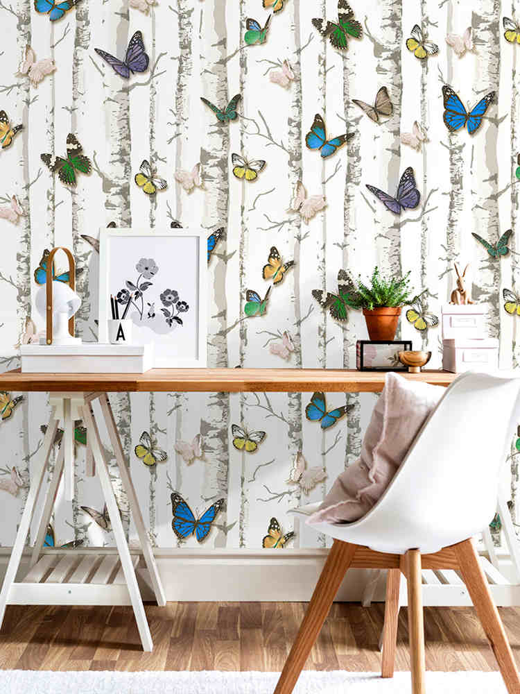 Peel And Stick Wallpaper Removable Butterfly Contact Paper Decorative Self Adhesive For Kidroom And Leisure Room Home Decoration|Wallpapers|   - AliExpress