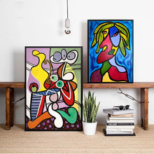 Picasso Women Abstract Canvas Art Print Painting Poster Wall Pictures For Living Room Home Decorative Bedroom Decor No Frame birds abstract nordic wall pictures poster print canvas painting calligraphy decor for living room bedroom home decor frameless