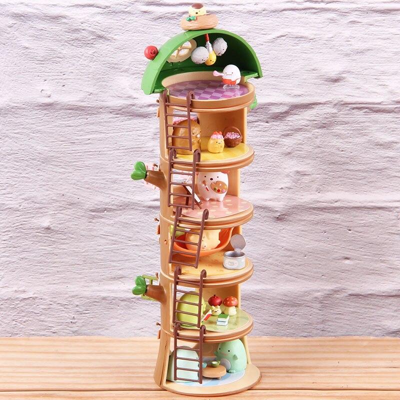 Sumikkogurashi Tree Stump PVC Collectible Action Figure House Vacation Sumikko Gurashi Model Toy Anime Statues