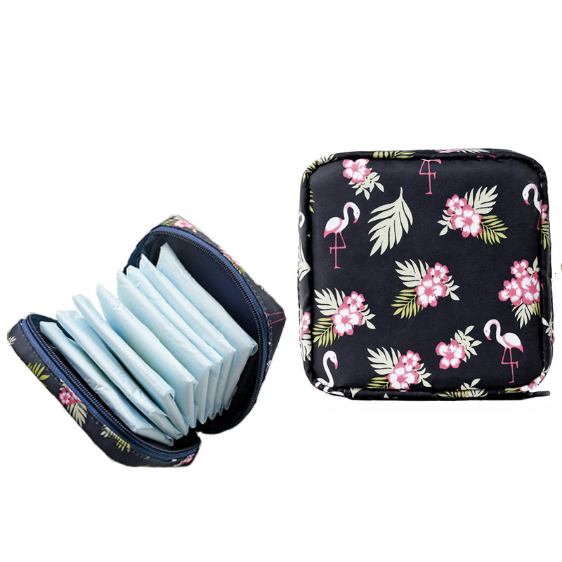 Women Large Capacity Sanitary Napkin Storage Bags Portable Travel Cosmetic Storage Makeup Bag Jewelry Organizer Lipstick Bag