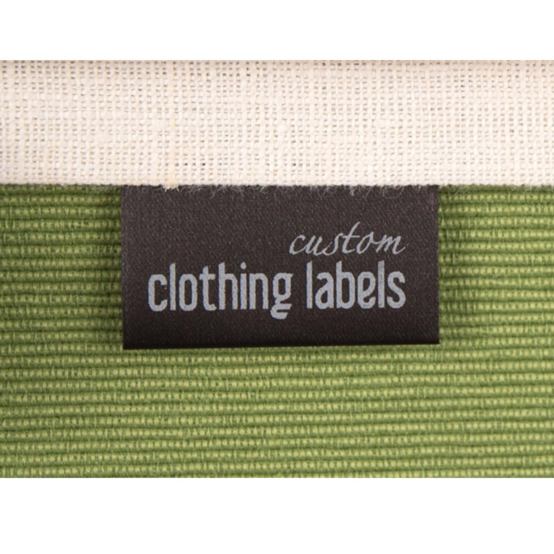 300 Fabric Garment Care Labels with branding logo, Personalized satin Sewing tags washable, Black handmade printed washing Label