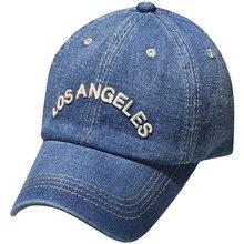 Primavera nueva Denim gorras de béisbol de Los Ángeles Retro gorras de béisbol Unisex sombrero Casual gorra Hip Hop gorras
