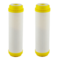 Quick Connect 10 Inch T33 with 2Pcs Fitting Water Purifier Carbon Post WATER FILTER Cartridge REVERSE OSMOSIS|Water Filter Cartridges| |  -