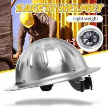 Alta resistência de pouco peso do capacete da segurança da liga de alumínio da borda larga do capacete duro para o tampão de trabalho da mina da metalurgia ferroviária da construção