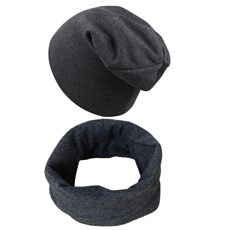 New Cotton Children Hexagonal Hat Cap Set Street Dance Boys Girls Cap Scarf Kids Beanie Solid Color Knitted Baby Hat Scarf