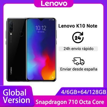 Перейти на Алиэкспресс и купить Глобальная версия Lenovo K10 Note(Z6 Lite), 6 ГБ 128 ГБ, Восьмиядерный процессор Snapdragon 710, тройная задняя камера, 6,3 дюйма, 19,5: 9, капля воды, 4050 мАч