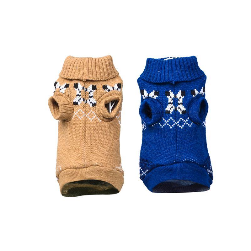 Рождественская Милая Одежда для собак с лосем, вязаный свитер, теплая дышащая одежда для собак, толстый зимний свитер для собак, Свитера с оленем