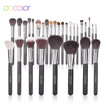Docolor 29 pieces Professional Makeup brush set Natural goat hair Powder foundation blending makeup brushes with PU Leather Case free shipping 2013 new arrival 12pcs natural goat hair purple makeup brushes sets with free pu leather cylinder dropship