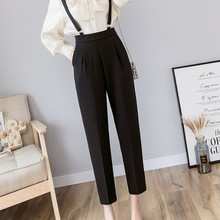 Spring Autumn Sling Jumpsuit Women Black Rompers Womens Office Commuting Overalls for Fashion Female Overall