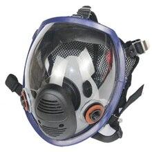 Chemische Maske 7 Set 8100 Gas Maske Säure Staub Atemschutz Farbe Pestizid Spray Silikon Filter Labor Patrone Schweißen