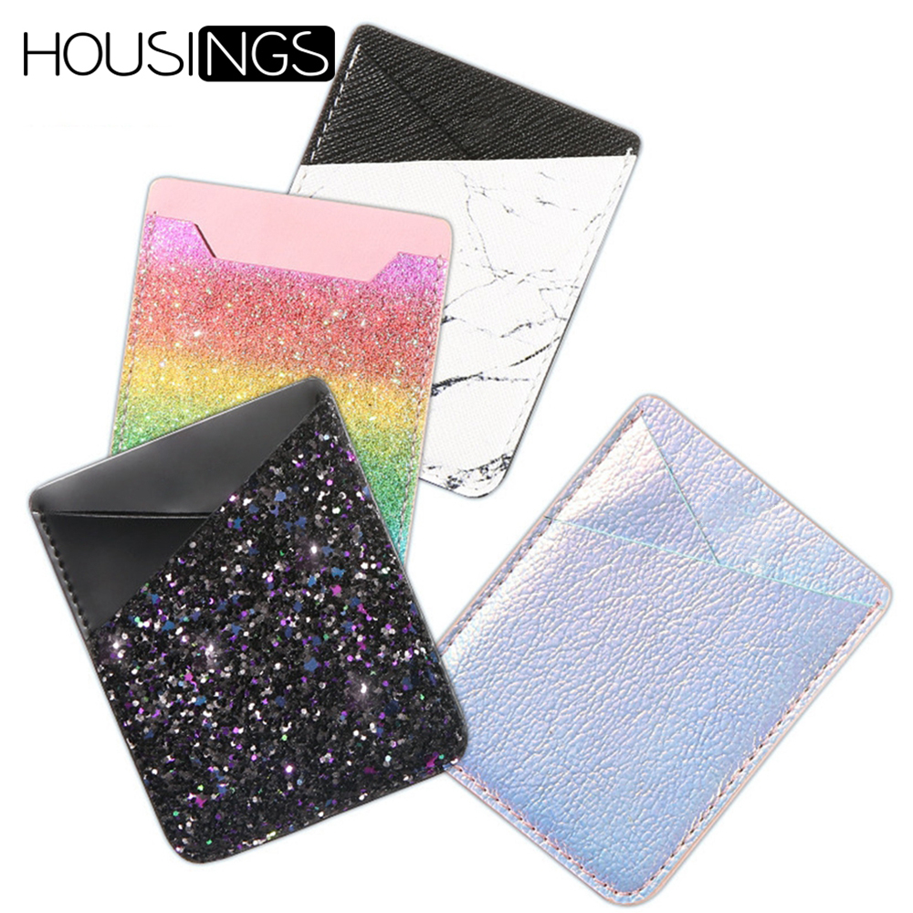 Colorfu Wallet Card Adhesive Sticker For IPhone 7 Plus Phone Pouch Holder For Samsung S9 Plus Credit ID Pocket Case For Huawei