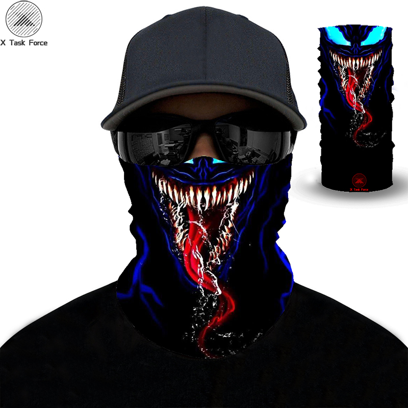 3D Printed Personalized Face Scarf Scarf Outdoor Sports Mountaineering Scarf Unisex Mountaineering Magic Scarf Seamless Handkerc
