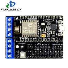 Подходит для Node MCU Development Kit V3 CP2102 NodeMCU + защита двигателя Wifi Esp8266 Esp-12e diy rc игрушка дистанционное управление Lua IoT умный автомобиль L293D
